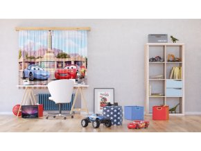 Textilní závěs CARS FCSXL4327, 180 x 160 cm (2 ks), lehké zastínění