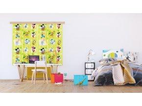 Textilní závěs MICKEY MOUSE FCSXL4365, 180 x 160 cm (2 ks), lehké zastínění
