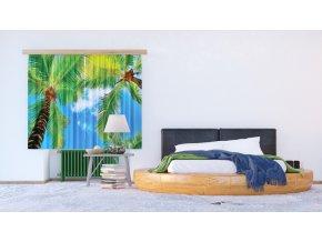 Textilní závěs PALM FCSXL4802, 180 x 160 cm (2 ks)