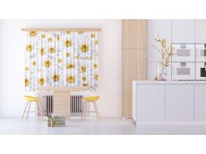 Textilní závěs FLOWERS FCSXL4810, 180 x 160 cm (2 ks)