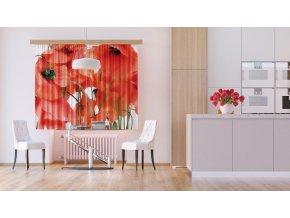 Textilní závěs FLOWERS FCSXL4811, 180 x 160 cm (2 ks)