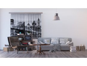 Textilní závěs BRIDGE FCSXL4812, 180 x 160 cm (2 ks)