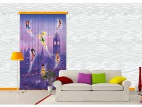 Textilní závěs FAIRIES IN LONDON FCSL7102, 140 x 245 cm (1 ks), lehké zastínění