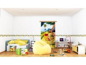 Textilní závěs WINNIE POOH THINKING FCSL7111, 140 x 245 cm (1 ks)