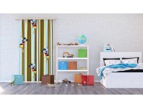 Textilní závěs MICKEY MOUSE FCSL7144, 140 x 245 cm (1 ks)
