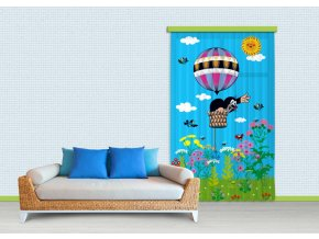 Textilní závěs LITTLE MOLE ON BALLOON FCSL7511, 140 x 245 cm (1 ks)