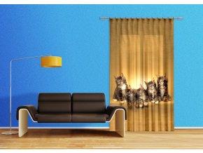 Textilní závěs CATS FCSL7521, 140 x 245 cm (1 ks)