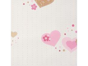 Papírová tapeta na zeď Caselio 61954127, kolekce GIRLS ONLY, materiál papír, styl moderní, dětský 0,53 x 10,05 m