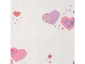 Papírová tapeta na zeď Caselio 61955280, kolekce GIRLS ONLY, materiál papír, styl moderní, dětský 0,53 x 10,05 m