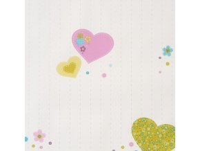 Papírová tapeta na zeď Caselio 61956075, kolekce GIRLS ONLY, materiál papír, styl moderní, dětský 0,53 x 10,05 m