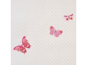 Papírová tapeta na zeď Caselio 61974080, kolekce GIRLS ONLY, materiál papír, styl moderní, dětský 0,53 x 10,05 m