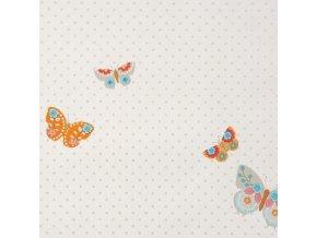 Papírová tapeta na zeď Caselio 61975061, kolekce GIRLS ONLY, materiál papír, styl moderní, dětský 0,53 x 10,05 m