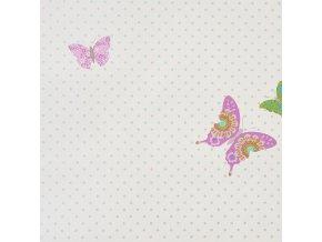 Papírová tapeta na zeď Caselio 61978030, kolekce GIRLS ONLY, materiál papír, styl moderní, dětský 0,53 x 10,05 m
