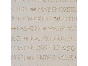 Papírová tapeta na zeď Caselio 62001001, kolekce GIRLS ONLY, materiál papír, styl moderní, dětský 0,53 x 10,05 m