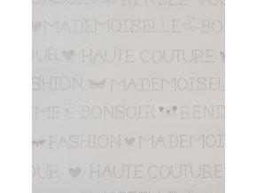 Papírová tapeta na zeď Caselio 62001148, kolekce GIRLS ONLY, materiál papír, styl moderní, dětský 0,53 x 10,05 m