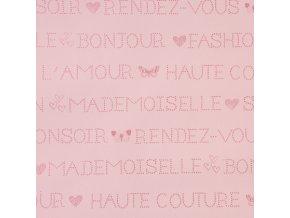 Papírová tapeta na zeď Caselio 62004009, kolekce GIRLS ONLY, materiál papír, styl moderní, dětský 0,53 x 10,05 m
