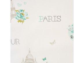 Papírová tapeta na zeď Caselio 62018090, kolekce GIRLS ONLY, materiál papír, styl moderní, dětský 0,53 x 10,05 m