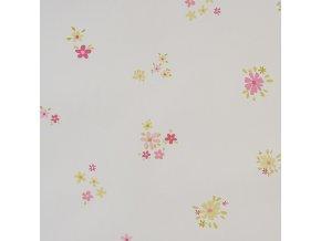 Papírová tapeta na zeď Caselio 62024070, kolekce GIRLS ONLY, materiál papír, styl moderní, dětský, květinový 0,53 x 10,05 m