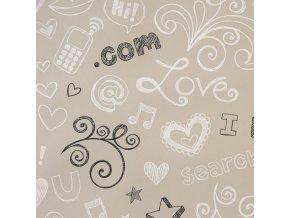 Papírová tapeta na zeď Caselio 62041099, kolekce GIRLS ONLY, materiál papír, styl moderní, dětský 0,53 x 10,05 m