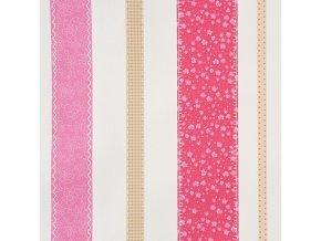 Papírová tapeta na zeď Caselio 62054022, kolekce GIRLS ONLY, materiál papír, styl moderní, dětský 0,53 x 10,05 m
