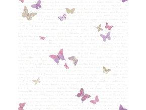 Papírová tapeta na zeď Caselio 69104050, kolekce PRETTY LILI, materiál papír, styl moderní, dětský 0,53 x 10,05 m