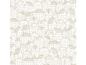 Papírová tapeta na zeď Caselio 69212000, kolekce PRETTY LILI, materiál papír, styl moderní, dětský 0,53 x 10,05 m