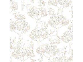 Papírová tapeta na zeď Caselio 69222022, kolekce PRETTY LILI, materiál papír, styl moderní, dětský 0,53 x 10,05 m