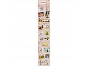 Vliesový panel Caselio 67071009, kolekce ACCENT, materiál vlies, styl moderní 50 x 280 cm
