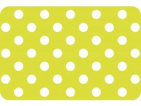 Prostírání puntík žlutý