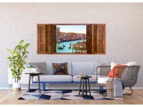 1 dílná fototapeta WINDOW VENICE, 202 x 90 cm