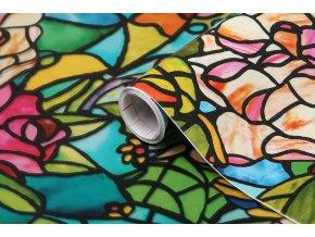 Samolepicí fólie d-c-fix vitráž 2 2003231, transparent, šíře 45 cm