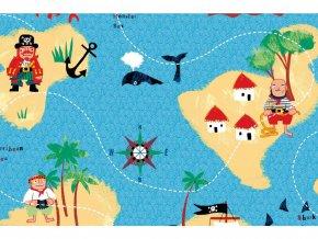 Samolepicí fólie piráti 2003233, dětské, šíře 45 cm