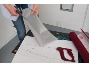 Samolepicí fólie d-c-fix stříbrná mat 2010020, kovové, šíře 45 cm