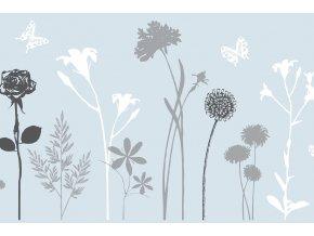 Statická fólie d-c-fix blossom 2160021, transparent, šíře 45 cm