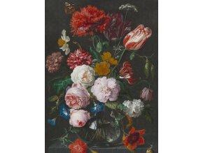 KOL8018 Luxusní fototapeta, Flowers in a glass vase, 4dílná