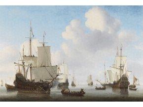 KOL8024 Luxusní fototapeta, Dutch Ships, 8dílná
