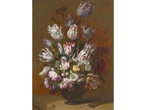 KOL8026 Luxusní fototapeta, Still life with flowers, 4dílná