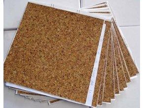"""Samolepicí podlahové čtverce """"korek"""" DF0009"""