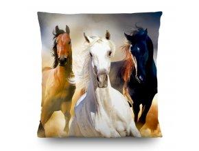 Dekorativní polštářek CN3602 Horses 45 x 45 cm