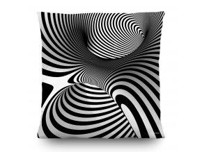 Dekorativní polštářek CN3608 Black and White Creative 3D 45 x 45 cm