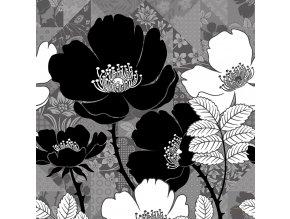 Dekorativní polštářek CN3621 Flora Black 45 x 45 cm