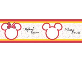 WBD8068 Samolepicí bordura, šíře 14 cm Mickey Mouse & Minnie , 14 x 500 cm