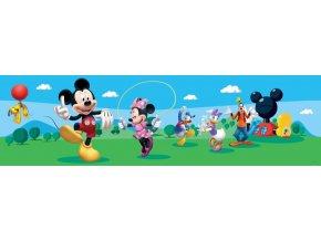 WBD8069 Samolepicí bordura, šíře 14 cm Mickey Mouse Club House , 14 x 500 cm