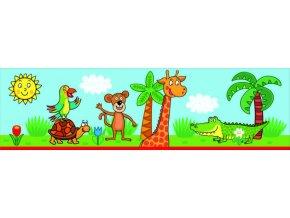 WBD8093 Samolepicí bordura, šíře 10 cm Žirafa, 10 x 500 cm