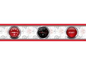 WBD8097 Samolepicí bordura, šíře 10 cm Cars Red Race, 10 x 500 cm