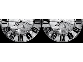 WB8204 Samolepicí bordura, šíře 14 cm Roma with Clock, 14 x 500 cm