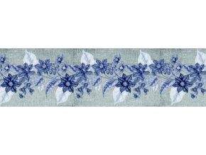 WB8227 Samolepicí bordura, šíře 14 cm Květiny, 14 x 500 cm