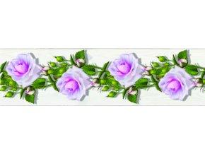 WB8229 Samolepicí bordura, šíře 14 cm Květiny, 14 x 500 cm