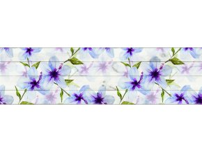 WB8235 Samolepicí bordura, šíře 14 cm Květiny, 14 x 500 cm
