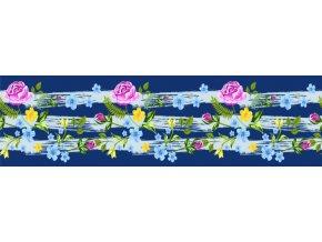 WB8237 Samolepicí bordura, šíře 14 cm Květiny, 14 x 500 cm
